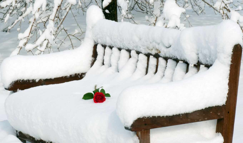 снег, взлёт