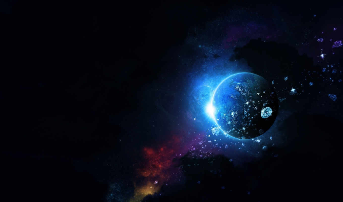 space, simple, planet,