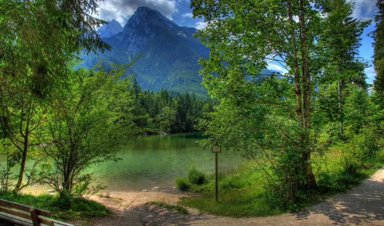 berchtesgaden, bei, ramsau, германия, landscape, горы, природа, бавария,