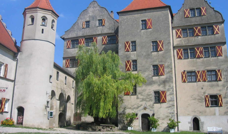 замок, германия, харбурга, castle,