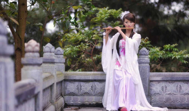 девушка, картинка, изображение, внешности, азиатской,