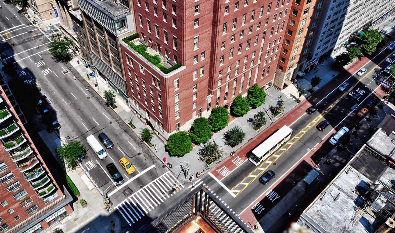 desire, небоскрёб, город, здания, улица, usa, деревя,
