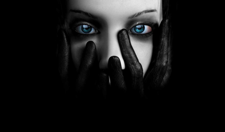 глазами, black, девушка, eyes, черная, devushki, голубыми,
