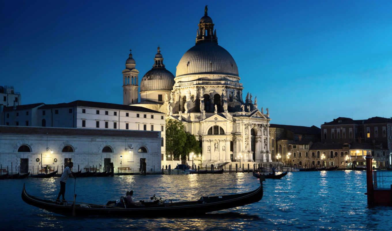 venezia, мария, della, санта, салют, basilica, город, вечер, яndex, лодка, ди,