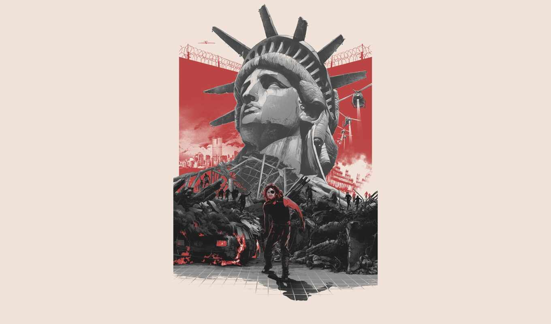 york, нью, арта, плакат, escape, new