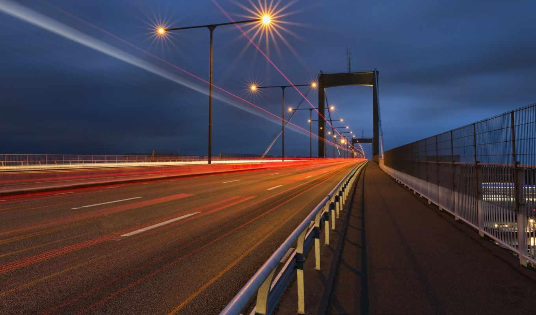 дорога, highway, огни, desktop, gothenburg, разное, sweden, город,