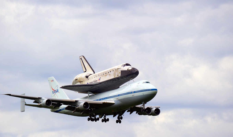 boeing, discovery, shuttle, самолёт, посадка, космос, небо, авиация, nasa, полет, preview,