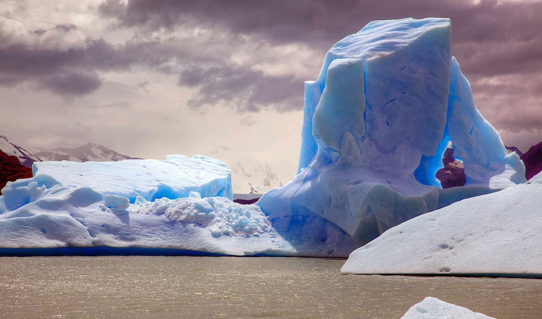 вода, ледник, голубой, природа, грязная, айсберг, вид, лед, iphone, изображение,
