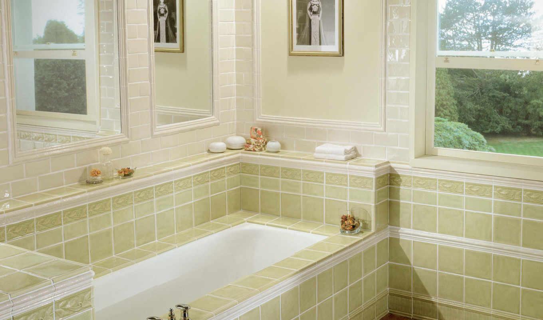 стиле, интерьер, ванной, комнаты, дизайн, интерьера, ремонт, будет, квартиры, ванная, область, окном,