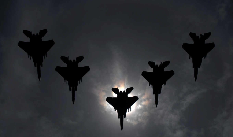 самолеты, небо, солнце, zbor, formarea, строй, истребители, картинка, formation,