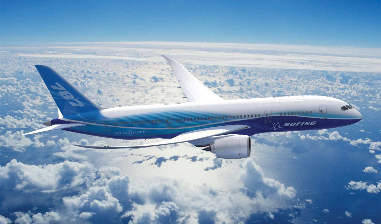 boeing, dreamline, полет, облака, dreamliner, авиабилеты, картинка,