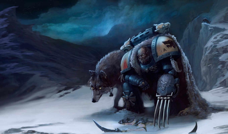space, warhammer, wolves, marine, wolf, marines, share, космодесантник, desktop, tags, mac,
