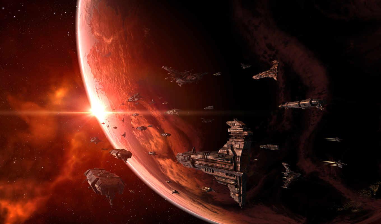 флот, космические, планета, корабли, звезды, ships, space, online, eve, картинка,
