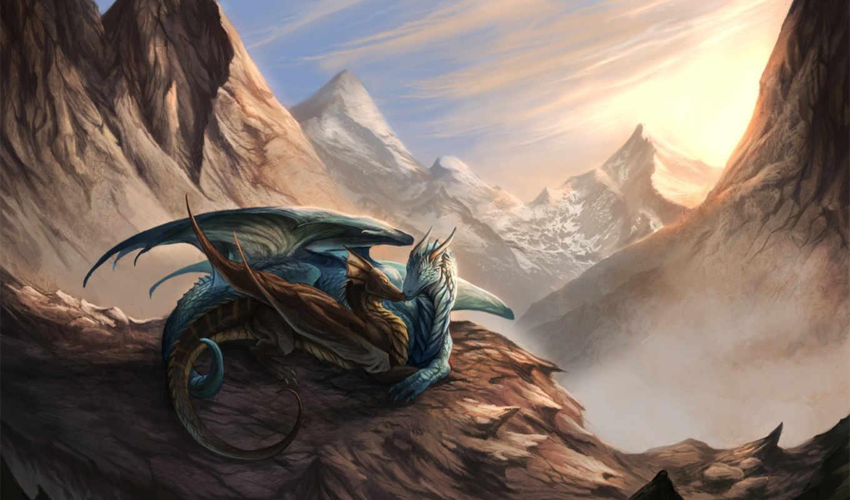 свет, фантастика, драконы,