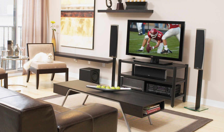 телевизор, room, living, потолки, домашний, натяжные, кинотеатр,
