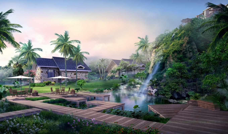 house, anime, дома, япония, отдых, scenery, цветы, пальмы, мар,