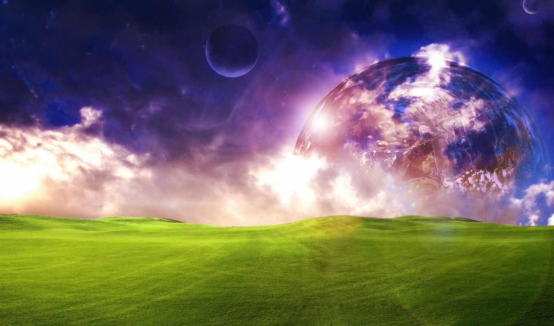 красивые, fantasy, самые, фантастика, planet, млечный, мотоциклист, драйв, шлем, небо,