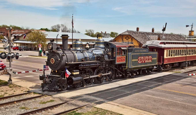 поезд, паровоз, steam, поезд, железная, дорога, minimalizm, зеленоватый, par, станция,
