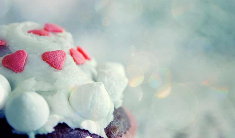 wallpaper, desserts, cupcakes, icing, hd, food, ar