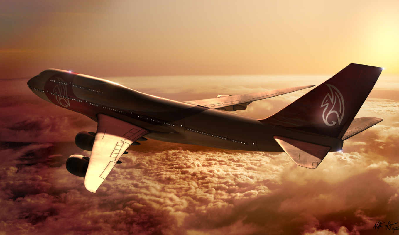boeing, облака, солнце, airplane, самолёт, небо, высота, полет, боинг, картинка, картинку, кнопкой, мыши, авиация,