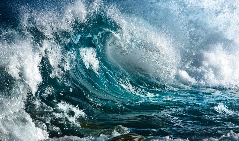волны, ocean, water, природа, брызги, волна, буря,