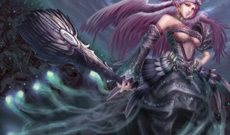 фэнтези, эльфы, девушки, магия, эльф,