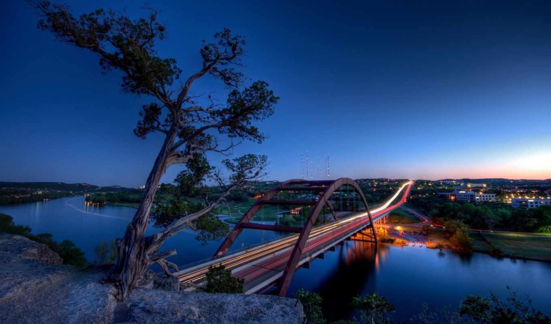 мосты, bridges, картинка, usa, красивых, мостов, austin, река, texas,