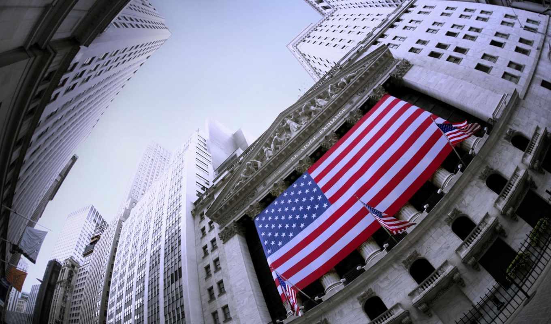 new, york, stock, exchange, флаг, город, united, states,