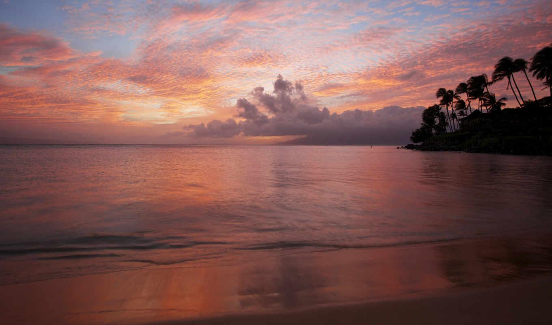 дениз, paisajes, arka, закат, пляж, ocean, mundo,