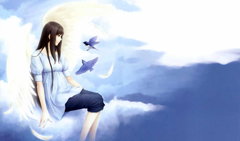 anime, девушка, angel, картинка, devushki, preview, ангелы,