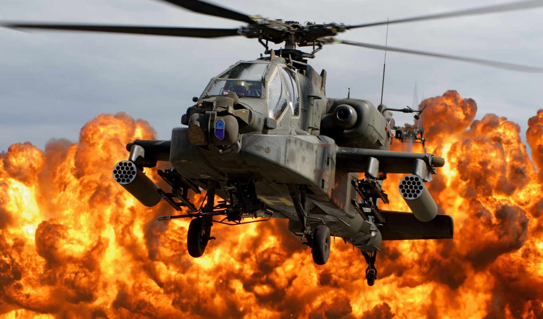 apache, ah, longbow, boeing, вертолет, военный,