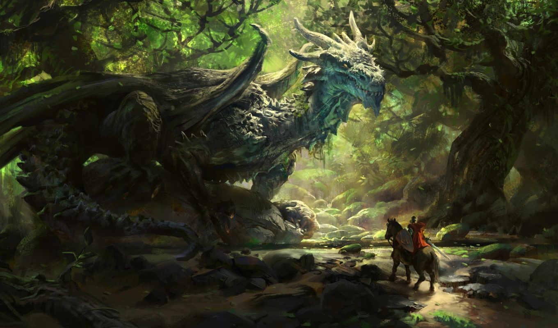 дракон, deviantart, servantofentropy, дней, назад, моя, пиксельарт, forest, под, fantasy, категории, dimenran, реклама,