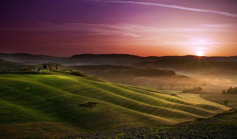 поля, tuscany, качестве, небо, sun, количество, базе, нов,