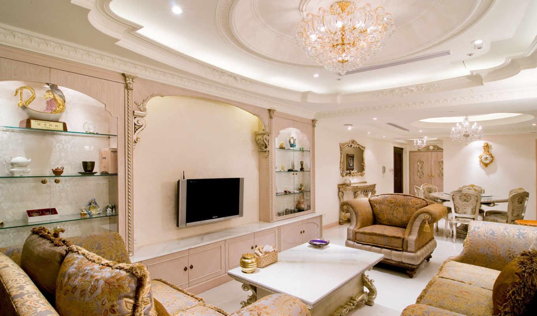 living, смотреть, гостиной, kitchen, интерьер, спальня,