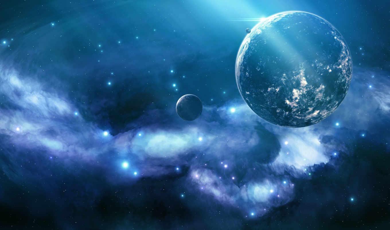 космос, nebula, звезды, свет,