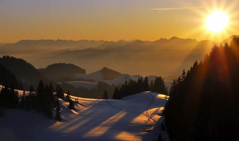 закат, landscape, горы, жеребята, iceland, кавказ, горе, домбай, лошади, горнолыжка, озеро,