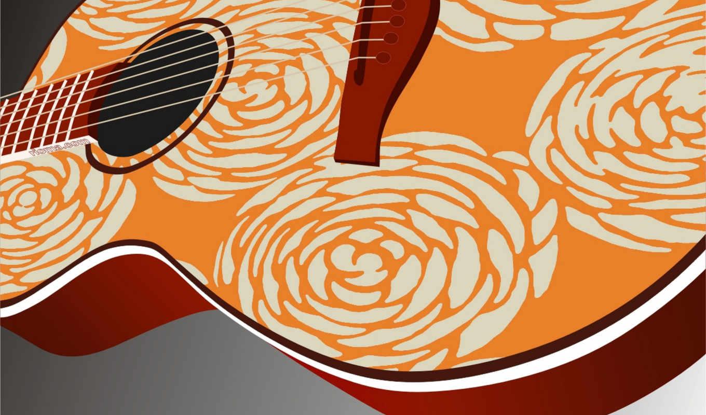 гитара, музыка, струны, красивая,