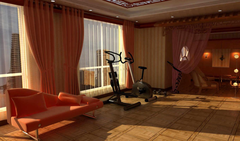 dizain, февр, ideas, комната, спортзал, спортзала, interer,
