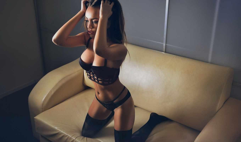 ,девушка, черное белье, белье,