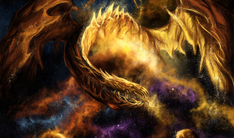 дракон, огонь, картинка, fantasy, save, картинку, ней, скачивания, правой, разрешением, выберите, мыши, кнопкой,