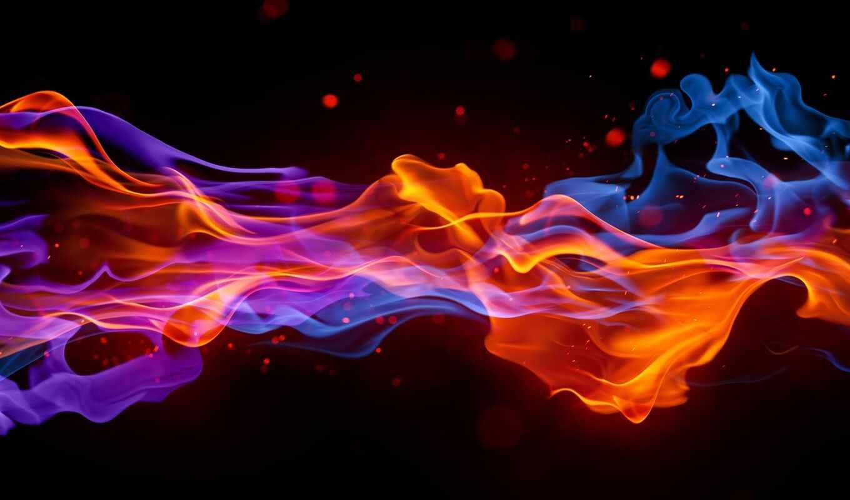 огонь, blue, пламя, космос, создать