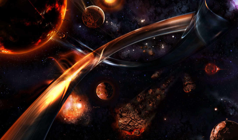 обои, космос, метеорит, space, планеты, wallpapers