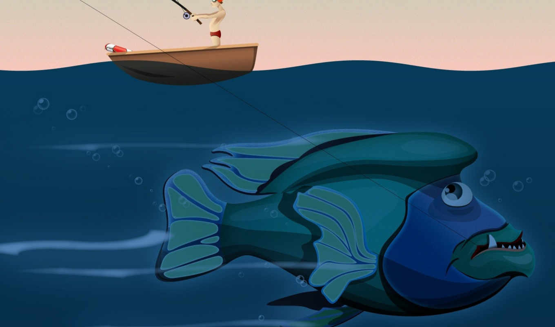 рыба, вектор, funny, fantastic, гигантская, смотрите, karp,