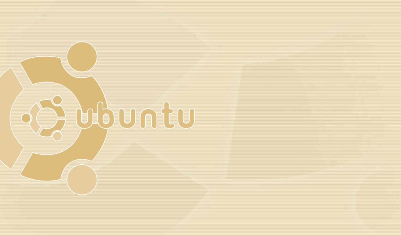 ubuntu, linux, лого, бежевый