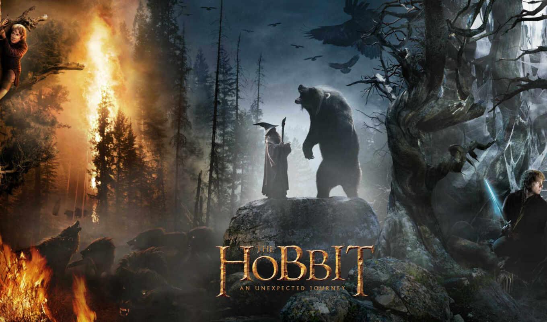 hobbit, туда, обратно, колец, сниматься, дек, властелин,