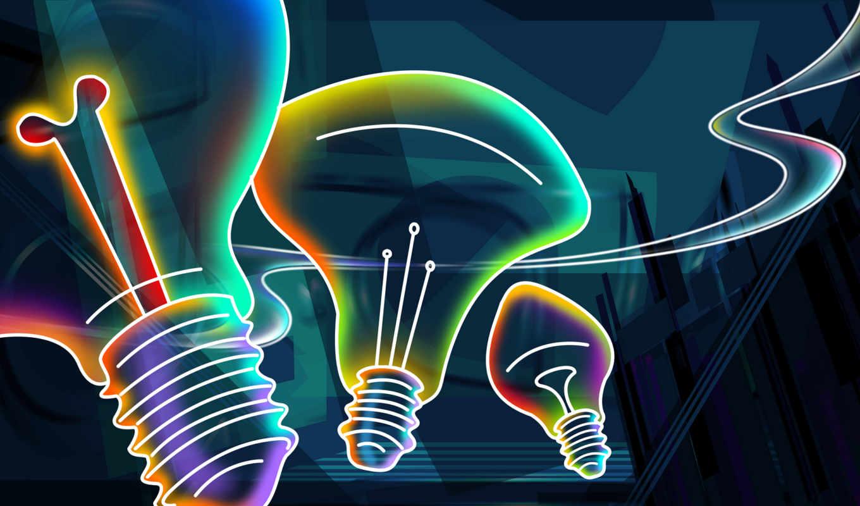 Неоновый свет от 3d объекта  № 941129 бесплатно