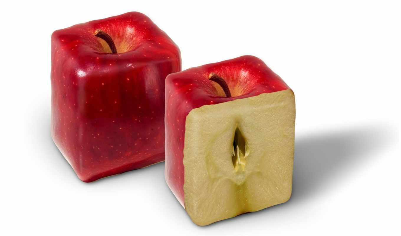 apple, red, abstract, frui, hintergrundbilder, rectangular,