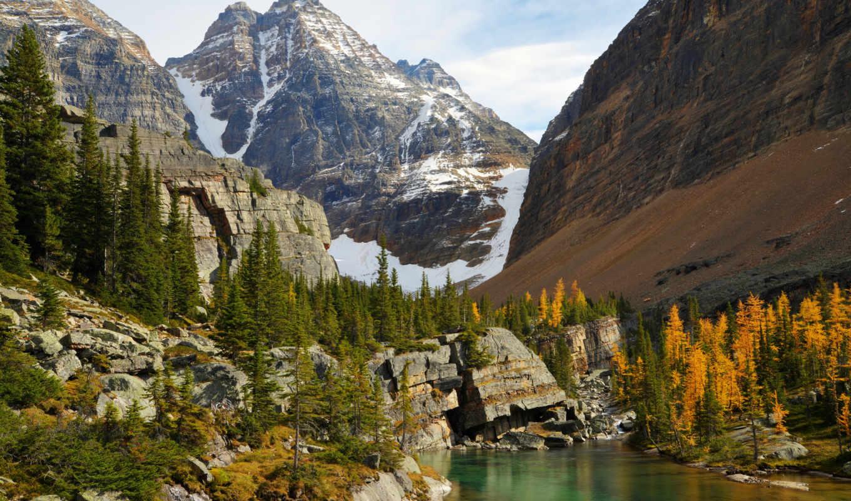 прекрасными, уголками, природы, park, canada, national, yoho, lake, ohara, горы, природа, пейзажи, rar, оформления, mountain, обоях, чудесные,