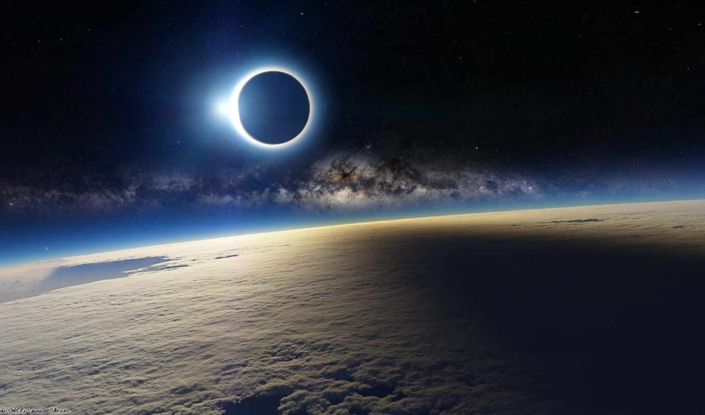 eclipse, solar, space,