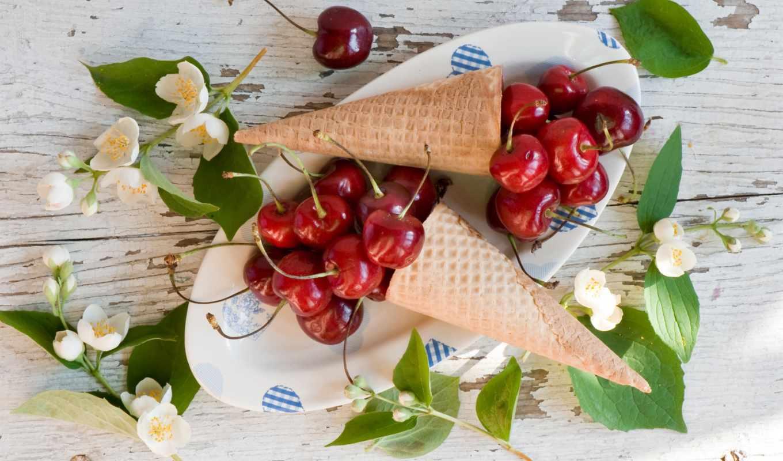 еда, cherry, фрукты, черешни,